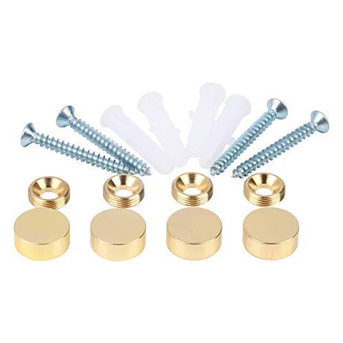 (Mirror Screws,Brass Cap Decorative Mirror Nails,0.6