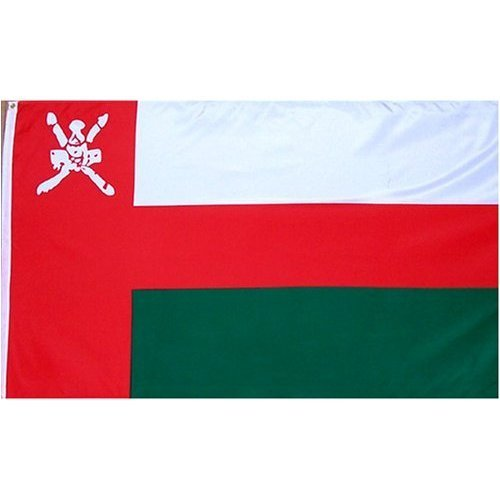 Oman Flag Polyester 3 ft. x 5 ft.
