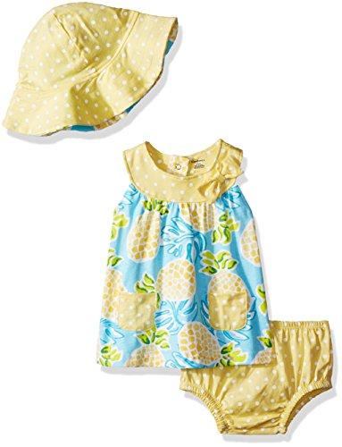 Gerber Baby Girls 3 Piece Dress Set, Pineapple, 3-6 Months - Infants Dress