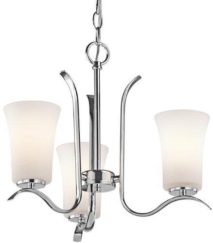 Kichler 43073CH Armida Mini Chandelier 3-Light, Chrome - Kichler Floor Nickel Lamp Lighting