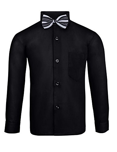 S.H. Churchill & Co. Toddler Boy's Dress Shirt & Tie - Black, 3T by S.H. Churchill & Co. (Image #2)