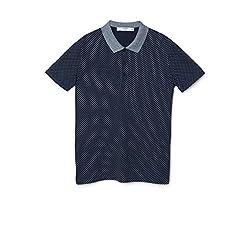 Mango Men's Polka-Dot Cotton Polo Shirt