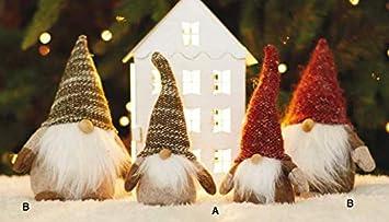OLD   NEW Gnomo Folletto Albero di Natale ARREDO Natale Cappello Beige  Goodwill H 34cm. 54a67d23ad9d