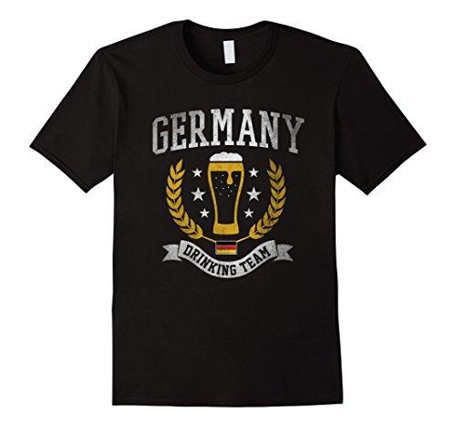 German Beer T-shirts - Mens Germany Drinking Beer Team Oktoberfest German Beer T-Shirt Large Black