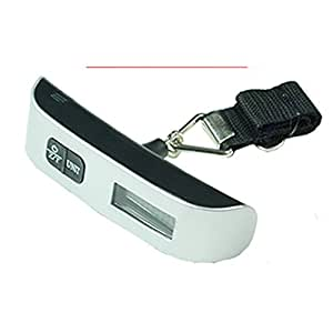 Feamos New 50kg/10g Portable LCD Digital Hanging Luggage Scale Travel Electronic Weight