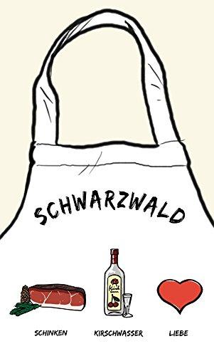 die stadtmeister Kochschürze ''Schwarzwald: Schinken - Kirschwasser - Liebe''