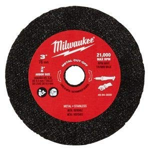 Milwaukee 49-94-3000 3-inch Metal Cut Off Wheel - 3 Pack