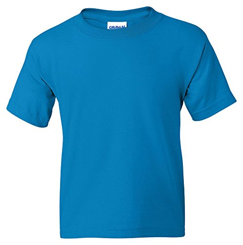 Gildan Big Boys' DryBlend Moisture-Wicking T-Shirt, Medium, Jade Dome