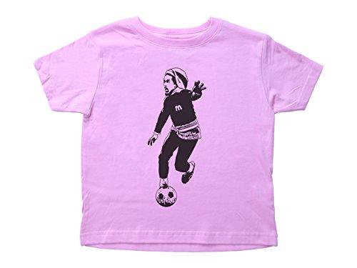 Bob Marley Football - Baffle Bob Marley Playing Soccer Toddler Shirt/Marley/Crew Neck Kids Tee Size - 3T, Color- Light Pink