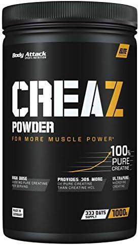 Body Attack CREAZ Powder - reinstes Creatin Pulver - vegan und hochdosiert - (1 x 1kg)