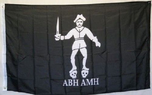 3x5 Jolly Roger Pirate Bartholomew Roberts ABH AMH Black Bart Flag 3x5 banner BEST Garden Outdor Decor polyester material FLAG PREMIUM Vivid Color and UV Fade Resistant Black Bart The Pirate