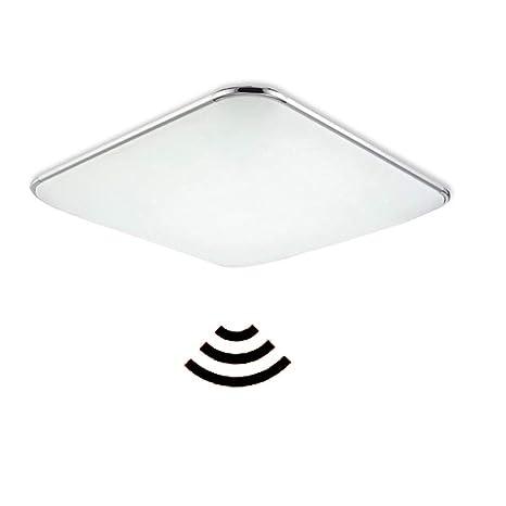 MYHOO 24W blanco frío LED lámpara de techo con Radar Sensor de Movimiento, Luz Automática