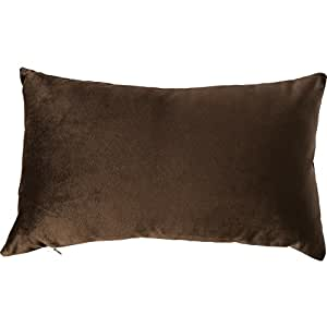 """yoyoKMC Solid Velvet Throw Pillow Cover/Euro Sham/Cushion Sham, Super Luxury Soft Pillow Cases, Many Color & Size options- (coffee, 12"""" 20"""")"""