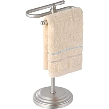 Amazoncom Hp Decorative Standing Towel Holder Brushed Nickel