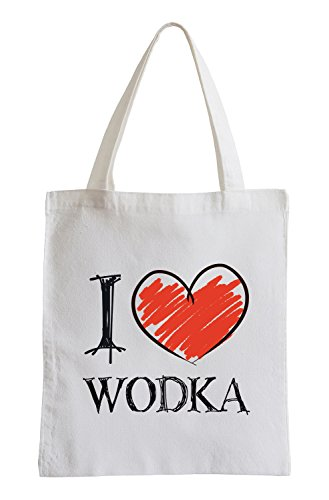 Amo Vodka Shirts Fun sacchetto di iuta
