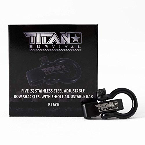Titan Bow Shackles for Paracord Bracelets (5-Pack) | Premium Stainless Steel Metal Clasps Holds Up to 1650 lbs in an Emergency. by TITAN Survival (Image #2)