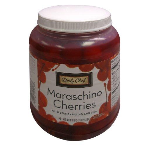 Maraschino Cherries With Stems  74 Ounce Jar