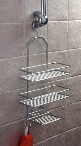 euroshowers 583 90 duschablage satina 3 bden zum hngen 43 x 25 cm chrom - Duschzubehor Zum Hangen