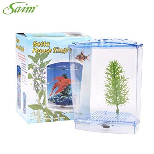 Aquarium Fish Tank Suspension Multi-functional Isolation Boxes Breeding Boxes Feeding Box   White, L 5point4 inch