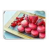 WYFG Indoor Doormat Macarons Strawberry Rustic Entrance Welcome Mat 16X24 Duty Low ProfileFront Door Mat Home Decor
