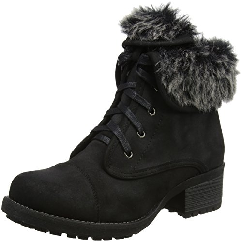 Lotus WoMen Bijou Boots Black (Black/Fur)