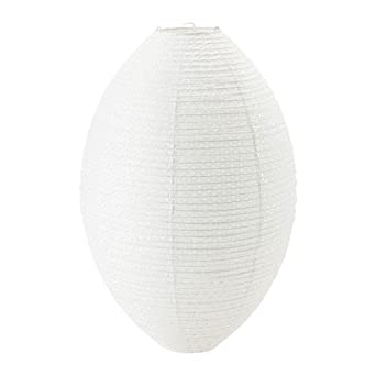 "Ikea Paper Lamp Shade: Ikea Pendant Lamp Shade, White Oval 19"" Rice Paper,Lighting"