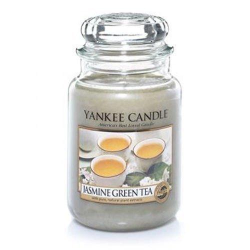 YankeeキャンドルジャスミングリーンティーLarge Jar Candle、新鮮な香り B07BN691L1
