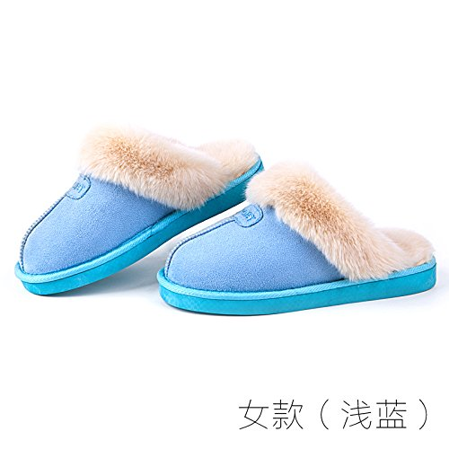 antiglisse LaxBa d'hiver Chaussons Femmes Hommes chauds int peluche xCw6q8x