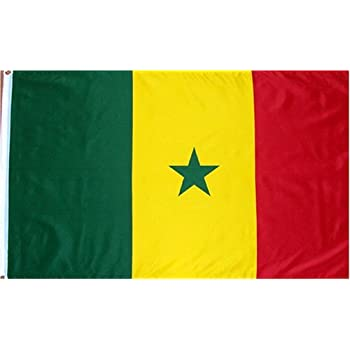 amazon com senegal flag polyester 3 ft x 5 ft flags unlimited