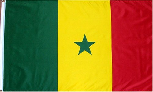 Senegal National Country Flag - 3 foot by 5 foot Polyester (New) by Fifi