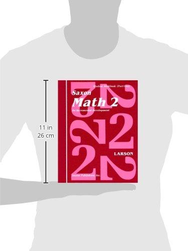 Saxon Math 2: An Incremental Development Part 1 & 2 (Workbook and Fact Cards-2  volume set)