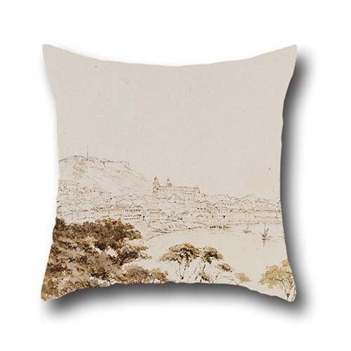 [Pillow Cases Of Oil Painting Thomas Boswall Watson - Extensive View Of Macao From Penha Hill 16 X 16 Inches / 40 By 40 Cm,best Fit For Study Room,bench,gril Friend,car Seat,gf,bench Twice] (Project M 35 New Costumes)