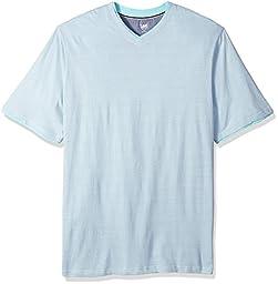 Lee Men\'s Big and Tall V-Neck Shirt, Hanson Aqua, 4X