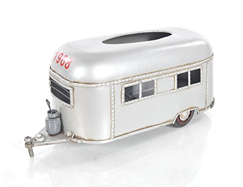 - Old Modern Handicrafts Camping Trailer Tissue Holder, Small, Silver