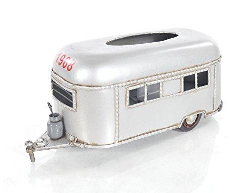 Old Silver Tissue Holder - Old Modern Handicrafts Camping Trailer Tissue Holder, Small, Silver
