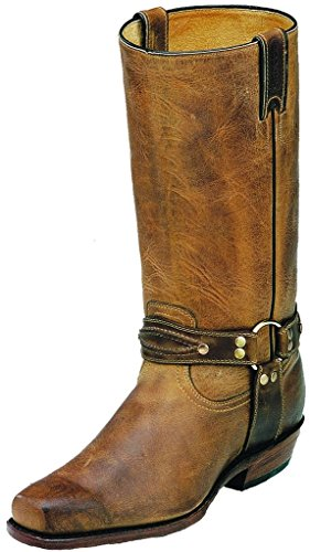 Bottes américaines - Rugged Country BO-2019-D (pied normal) - Homme - Cuir - marron/noir