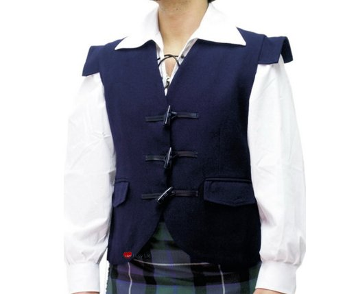 Waistcoat Wool Jacobite Navy option Large -