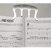 Sheet Music Clip, Stainless Steel, Reading Book Stand Page holder Marker, Music book clip, Guitar accessories, Sheet Music learning accessory, Book stand accessory