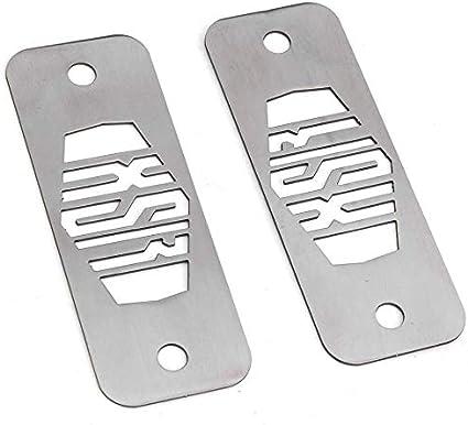 QYA de Haute qualit/é Accessoires Moto Pratiques Inoxydable Bo/îte /à fusibles Top Plaques avec Vis Accessoires Moto 1pair Yamaha XSR900 XSR 900 Mat/ériel Robuste Color : Silver