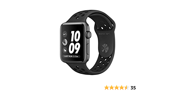 Acuario lucha circuito  Amazon.com: Apple Watch Series 3 Nike+ - GPS - Space Gray Aluminum Case  with Anthracite/Black Nike Sport Band - 42mm