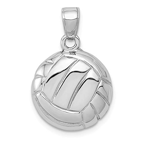 Jewelry Pendants & Charms Themed Charms 14k White Gold Volleyball Pendant