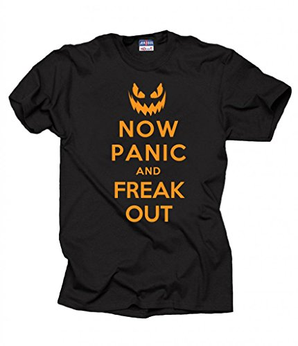 Halloween Now Panic And Freak Out Party T-shirt X-Large Black ()