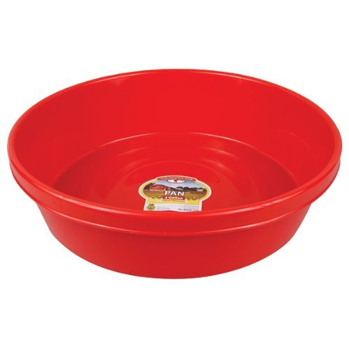 - LITTLE GIANT P3RED Dura-Flex Plastic Utility Pan, 3-Gallon, Red
