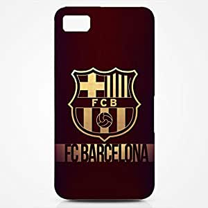 FC Barcelona Logo Phone Case for Blackburry Z10 3D Black Slip On Cover
