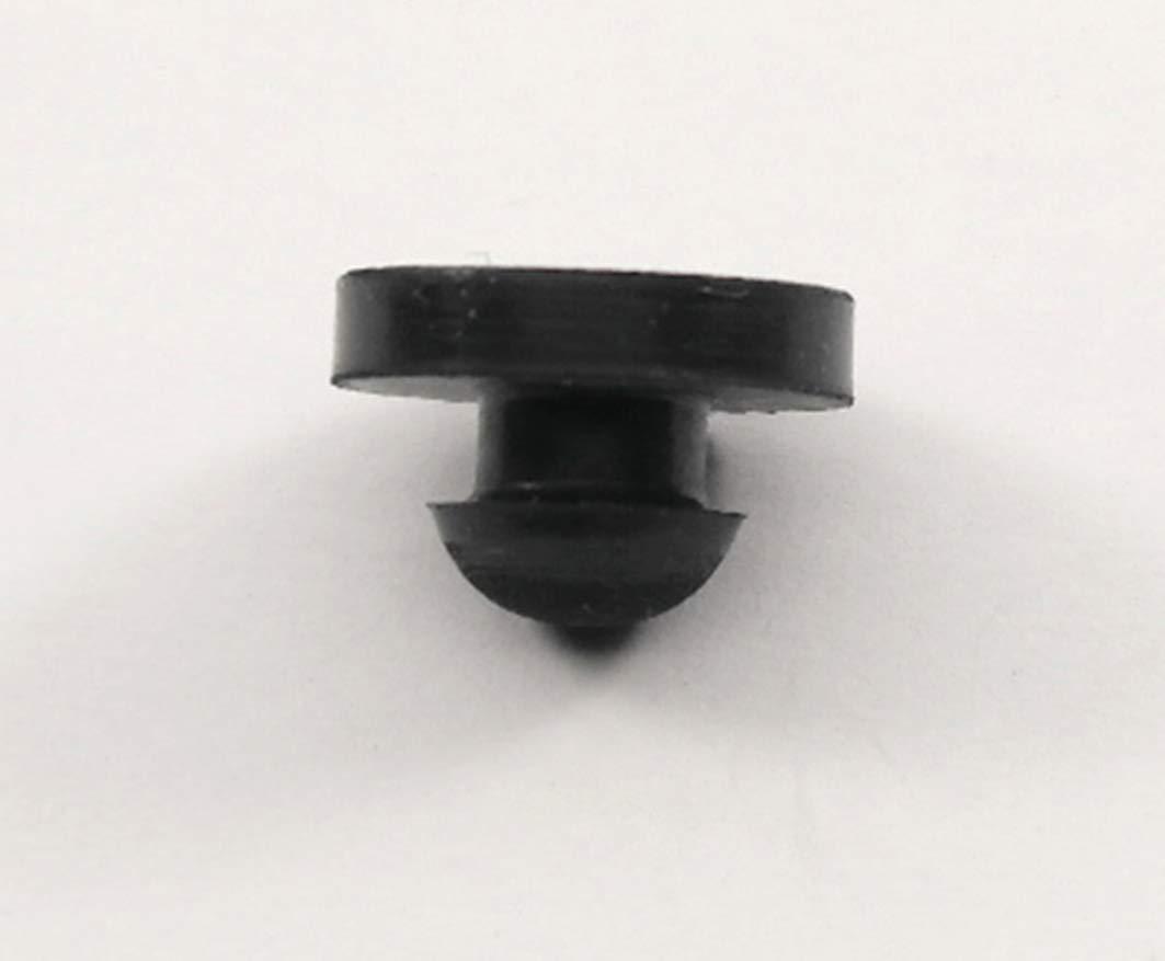 Rubber Push-in Ridged Stem Bumper 9/16