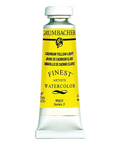 Grumbacher Finest Watercolor Paint, 14 ml/0.47 oz, Cadmium Yellow Light