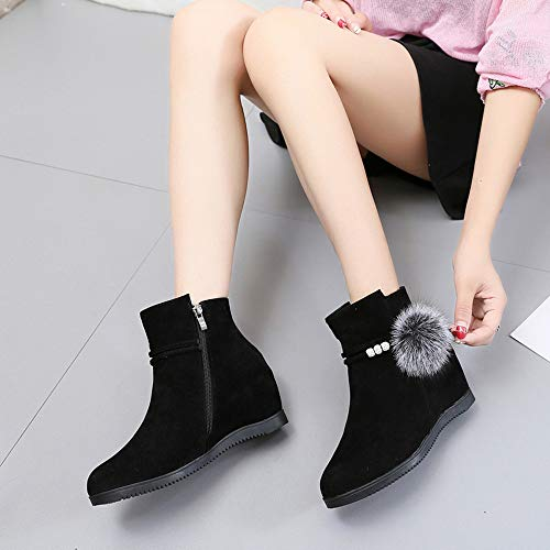 Up Top Zipper White 35 Black High Leisure JERFER Women Shoes Single 40 Leather Shoes Flat Sneakers Lace Shoes Black 1wqfxYnBE