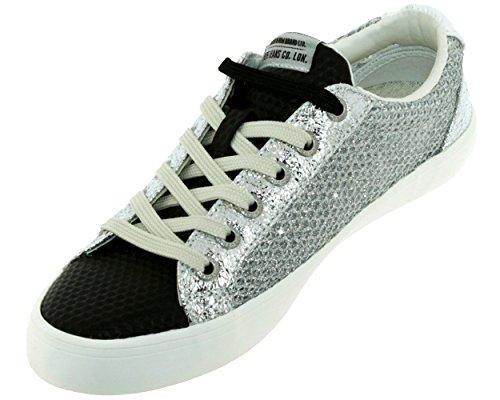 Sneaker Jeans grigio London Pepe Donna 7fxwdnSqSZ