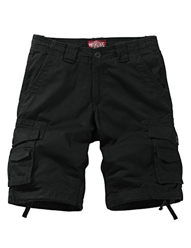Match Men's Twill Comfort Cargo Short Without Belt #S3612 (Label size M/30 (US 29), Dark gray)