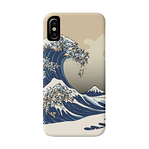 DEYING Phone Case The Great Wave of Pug Art Pattern Protector Cover for iPhone X Great Iphone Covers